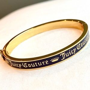 JUICY COUTURE Signature Bangle - Gold/Black